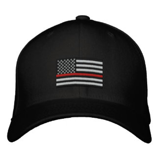 Firefighter Thin Red Line American Flag Embroidered Hat