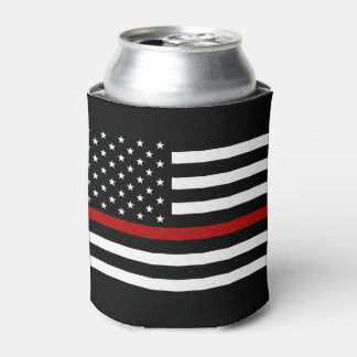 Firefighter Thin Red Line Bottle Cooler