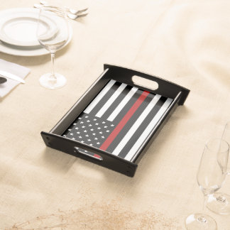 Firefighter Thin Red Line Small Serving Tray