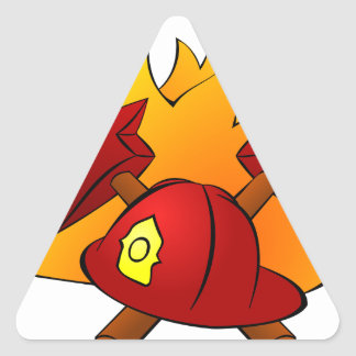 Firefighter Triangle Sticker
