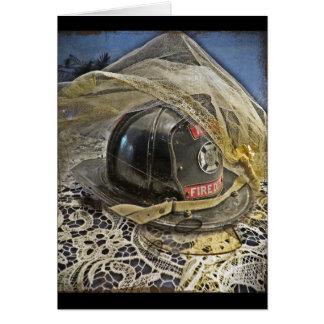 Firefighter wedding card