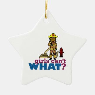 Firefighter Women Ceramic Star Decoration