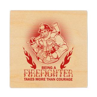 Firefighter Wood Coaster