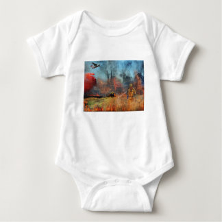 Firefighters are our true heroes baby bodysuit