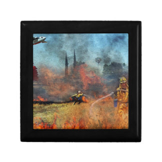 Firefighters are our true heroes small square gift box