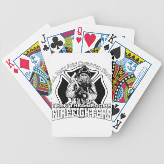 Firefighters design bicycle playing cards
