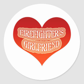 Firefighter's Girlfriend Classic Round Sticker