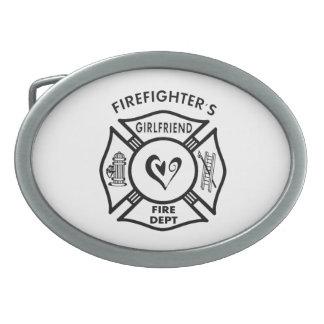 Firefighters Girlfriend Oval Belt Buckles