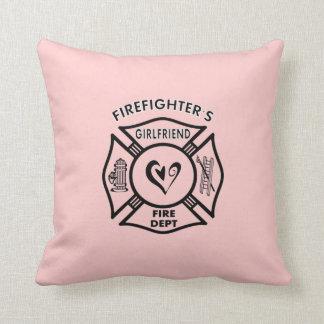 Firefighters Girlfriends Throw Pillow
