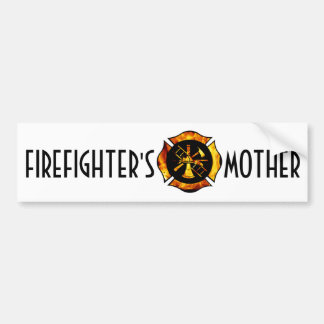 Firefighter's Mother Bumpersticker Bumper Sticker