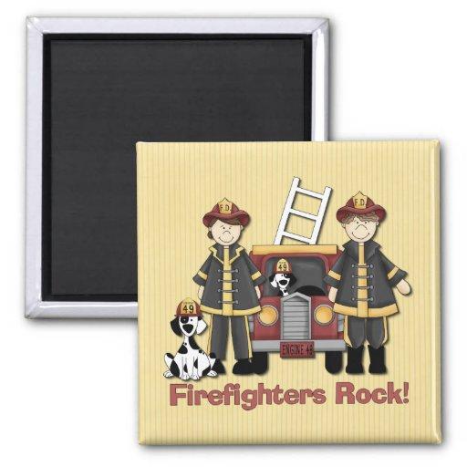 Firefighters Rock Fridge Magnet