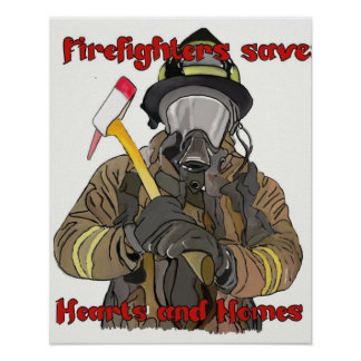 Firefighters save Hearts and Homes Poster