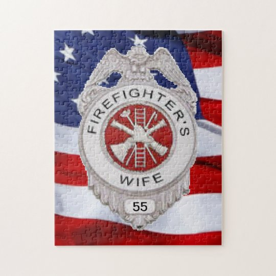 Firefighter's Wife Custom Jigsaw Puzzle