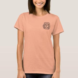Firefighters Wife Maltese Heart T-Shirt