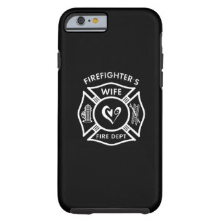 Firefighters Wife Maltese Heart Tough iPhone 6 Case