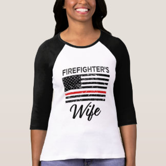 Firefighter's Wife thin Red line women's shirt