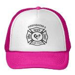 Firefighters Wife Trucker Hats
