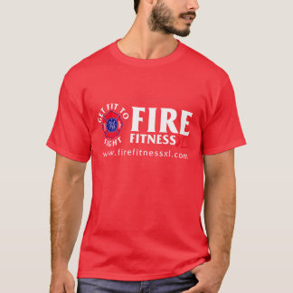 FireFitnessXL Basic Red T-Shirt