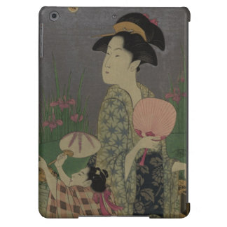 Fireflies, 1793 (colour woodcut) cover for iPad air