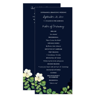 Fireflies and Magnolias Garden Wedding Program