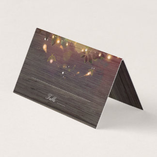 Fireflies and Mason Jar Rustic Wedding Place Card
