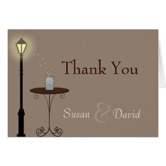 Fireflies and Mason Jar Thank You Note Card