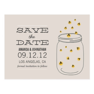 FIREFLIES Design Save The Date Post Cards