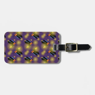 Fireflies Graphic on Purple Luggage Tag