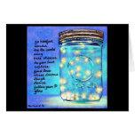 Fireflies in a Jar Notecard ©MillwardStudios 2011 Greeting Card