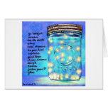 Fireflies in Jar Blank Greeting Card ©2011