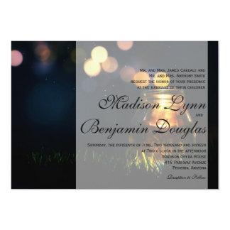 Fireflies Mason Jar Rustic Garden/Invitation 13 Cm X 18 Cm Invitation Card
