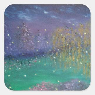 Firefly Landscape Art Sticker