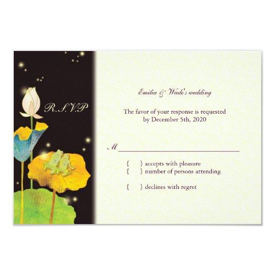 Firefly Night Cute Romantic Wedding RSVP Card