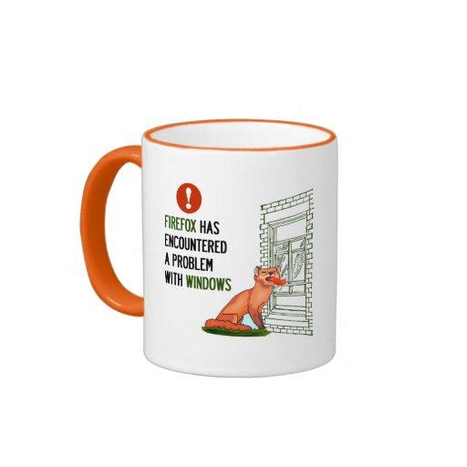 Firefox has encountered a problem with windows coffee mugs
