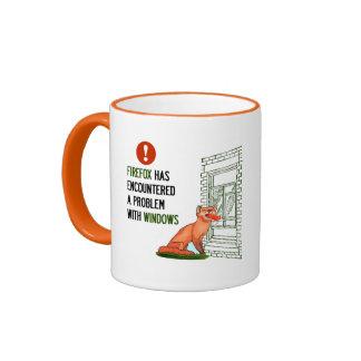 Firefox has encountered a problem with windows ringer mug