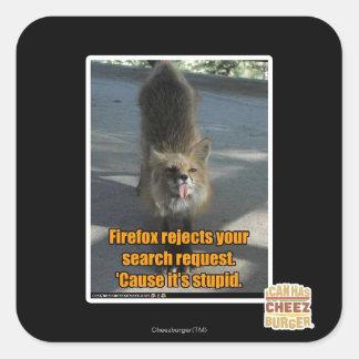 Firefox rejects sticker