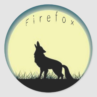 Firefox Round Sticker