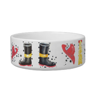 Firehouse Gear Dog or Cat Dish Cat Bowl