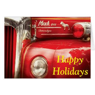 Fireman - An old fire truck Greeting Card