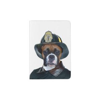 Fireman Boxer Dog Passport Holder