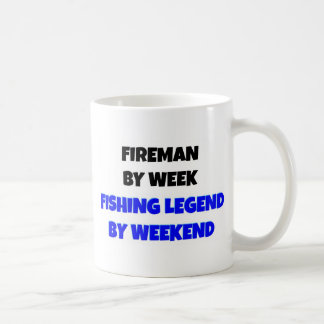 Fireman by Week Fishing Legend By Weekend Coffee Mug