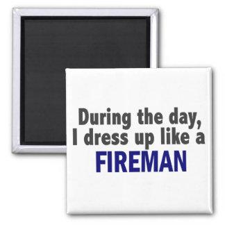 Fireman During The Day Fridge Magnet