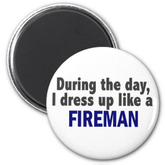 Fireman During The Day Fridge Magnets