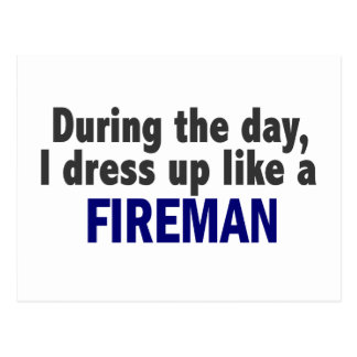 Fireman During The Day Postcard