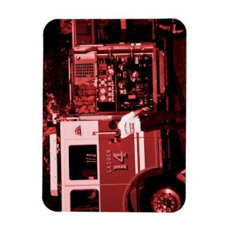fireman entering truck burgundy colored magnets