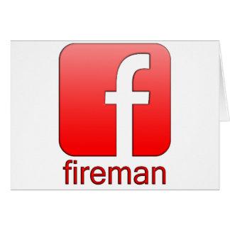 Fireman Facebook logo template Greeting Card