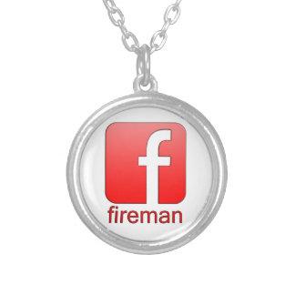 Fireman Facebook logo template Pendant