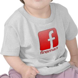 Fireman Facebook logo template T Shirt