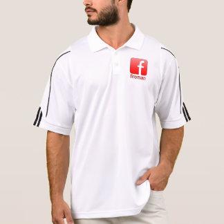 Fireman Facebook Logo Unique Template Polo Shirts