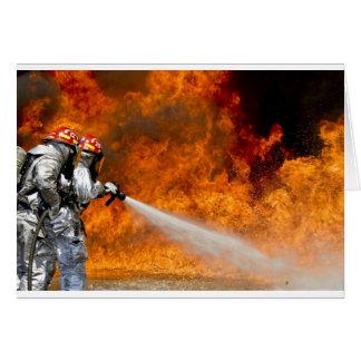 Fireman Fire Flame Rescue Destiny Digital Greeting Cards